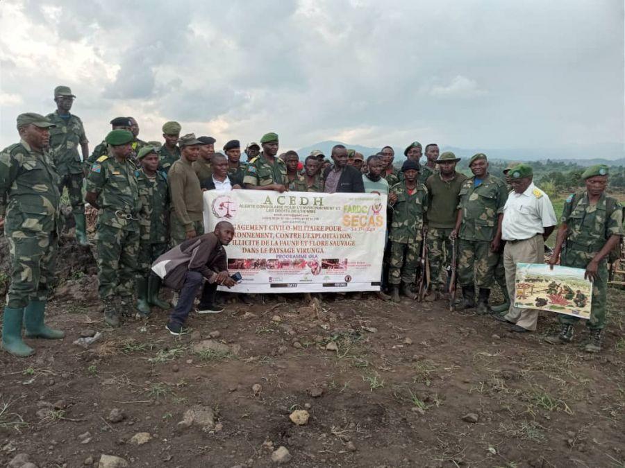 Rutshuru: les militaires des FARDC sensibilisés sur le patriotisme écologique