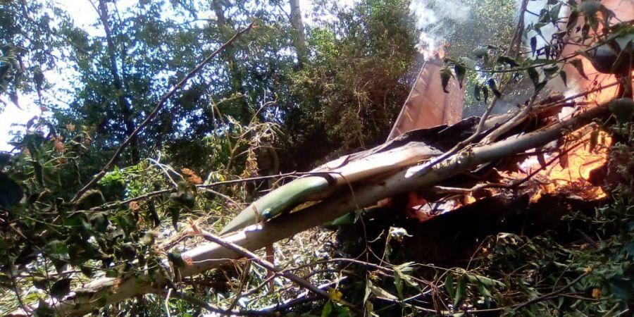 """Virunga: 1 mort et 4 blessés suite au carsh d""""un avion de patrouille"""