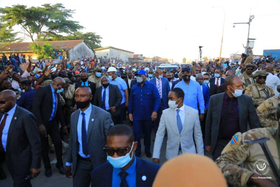 Infrastructures en RDC : Félix Tshisekedi visite les travaux de l'avenue Elengesa