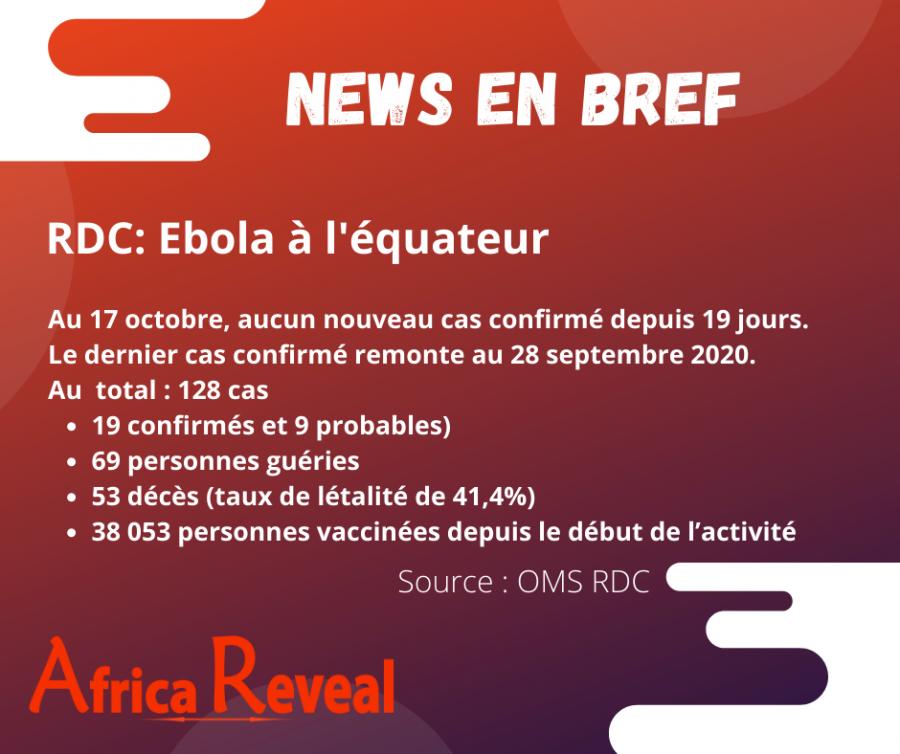 News en Bref: RDC - Ebola en Equateur