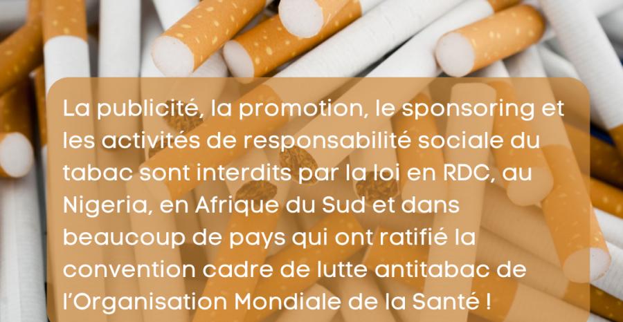 Le saviez-vous? La publicité du tabac est interdite