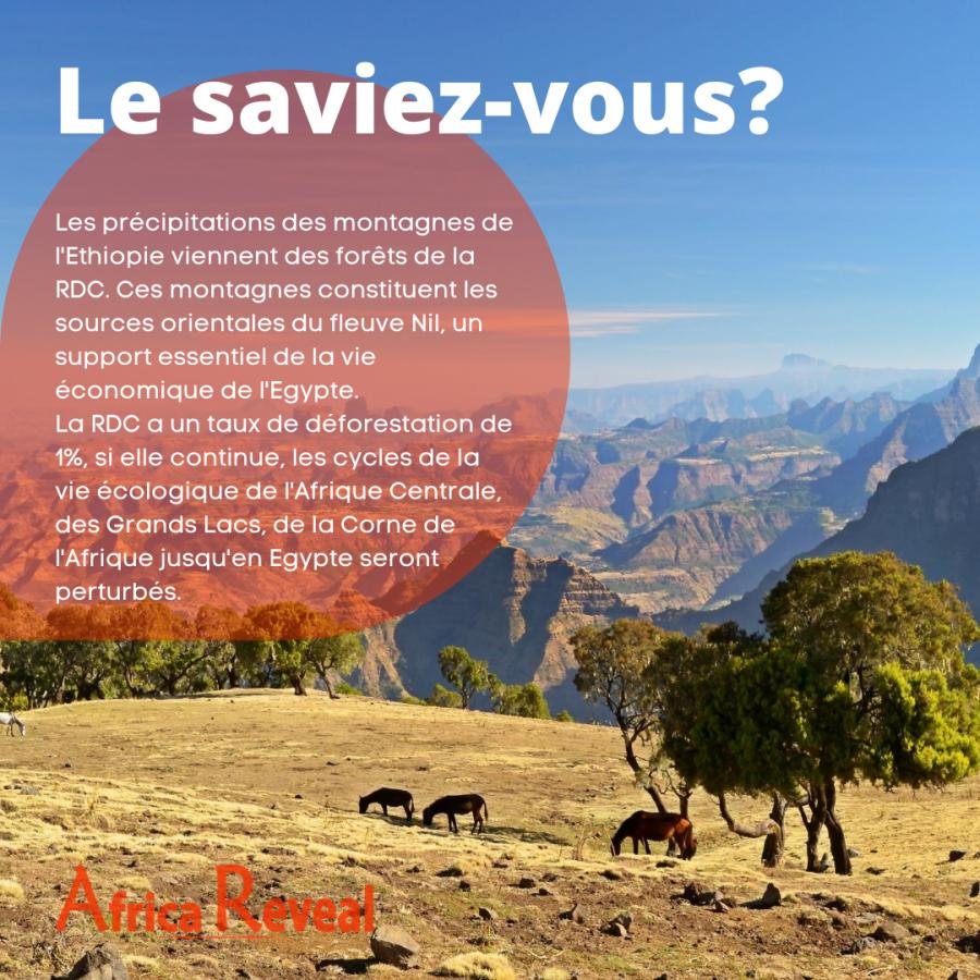 Le saviez-vous? Les précipitations des montagnes de l'Ethiopie viennent des forêts de la RDC.
